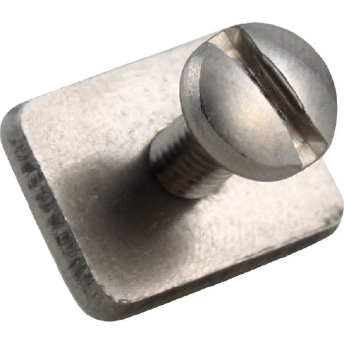 LONGBOARD STAINLESS FIN PLATE AND SCREW 1pc