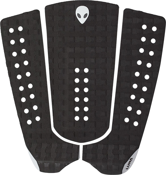 LUNASURF 3pc TAIL PAD SQUARE GROOVE CHARCOAL GREY