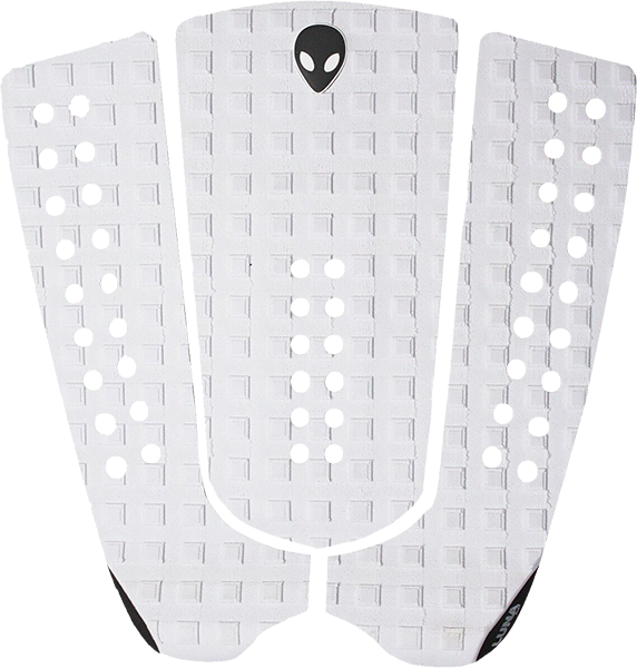 LUNASURF 3pc TAIL PAD SQUARE GROOVE WHITE