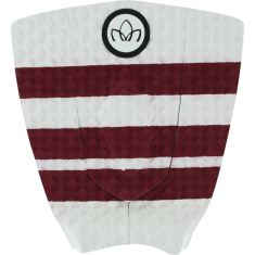STC 3PC SHORTBOARD TRACTION WHT/RED STRIPE