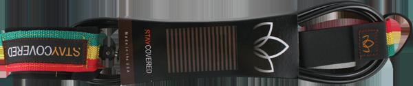 STAY COVERED SUPER COMP 5'6 LEASH BLACK/RASTA