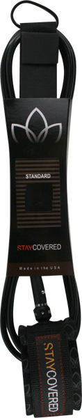 STAY COVERED STANDARD 6' LEASH BLACK