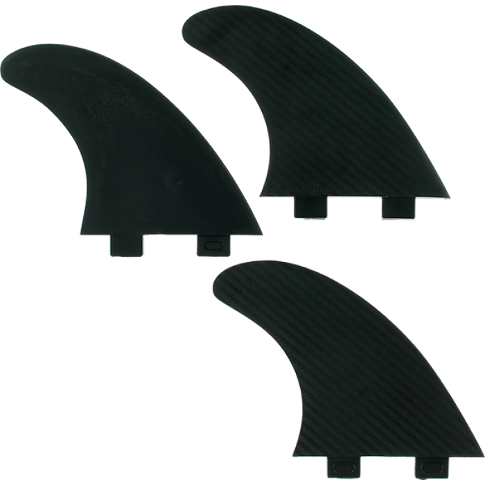 FIN SOLUTIONS FCS LARGE BLACK 3fin set