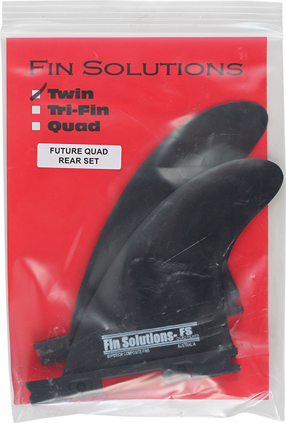 FIN SOLUTIONS FSX QUAD REAR TWIN TRAILERS BLACK