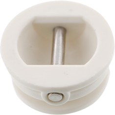 SURF SOURCE LEASH CUP LOVE PLUG WHT/STAINLESS PIN