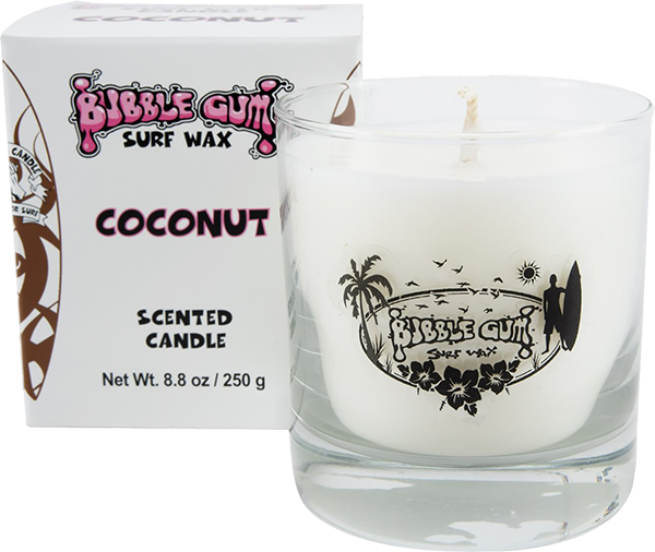 BUBBLE GUM 8oz GLASS CANDLE COCONUT