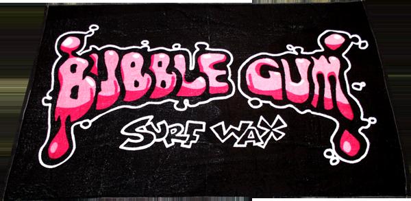 BUBBLE GUM BEACH TOWEL BLACK/PINK