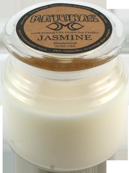 MATUNAS SOY CANDLE 22oz GLASS- JASMINE