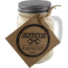 MATUNAS SOY CANDLE 16oz GLASS MUG-RASPBERRY
