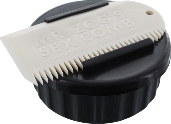 SEX WAX CONTAINER+COMB  BLK CONTAINER/WHT COMB