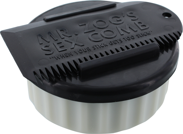 SEX WAX CONTAINER+COMB  WHT CONTAINER/BLK COMB