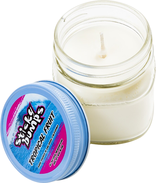 STICKY BUMPS CANDLE 7oz GLASS TROPICAL FRUIT