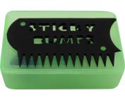 STICKY BUMPS WAX BOX & COMB CLR.GRN/BLACK