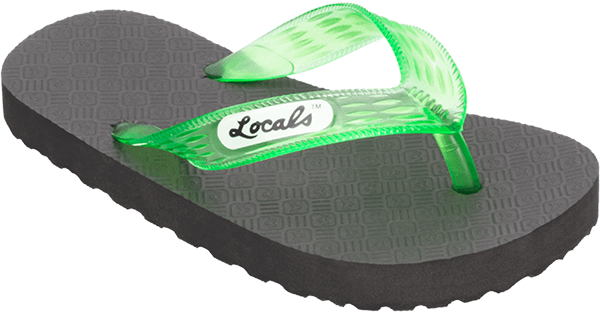 "LOCALS ORIGINAL SLIPPA 7.5"" BLK/TRANS.GREEN"