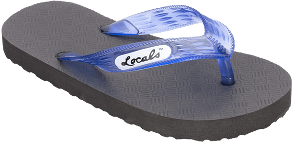 "LOCALS ORIGINAL SLIPPA 8.5"" BLK/TRANS.BLUE"