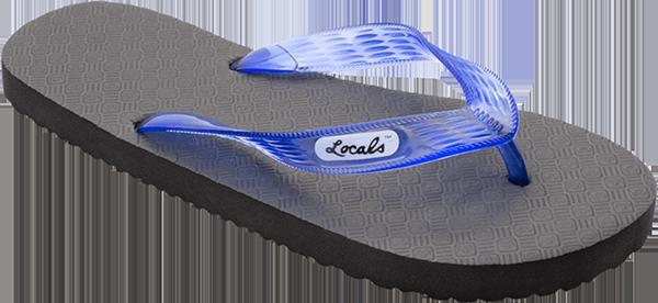 "LOCALS ORIGINAL SLIPPA 9.0"" BLK/TRANS.BLUE"
