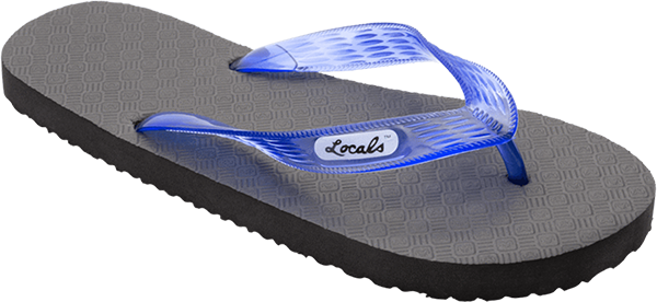 "LOCALS ORIGINAL SLIPPA 9.5"" BLK/TRANS.BLUE"