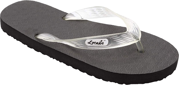 "LOCALS ORIGINAL SLIPPA 10.5"" BLK/CLEAR"
