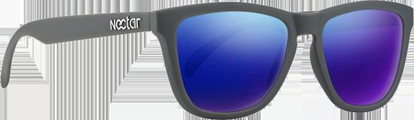 NECTAR CRUX POLARIZED MATTE GREY/BLUE