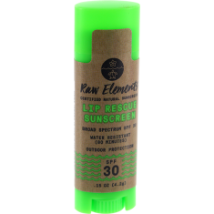 RAW ELEMENTS OUTDOOR LIP RESCUE 30+ SPF .15oz